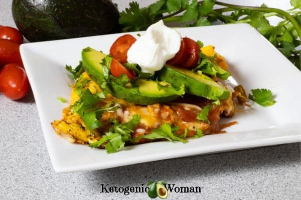 Keto Low Carb Mexican Omelette Recipe