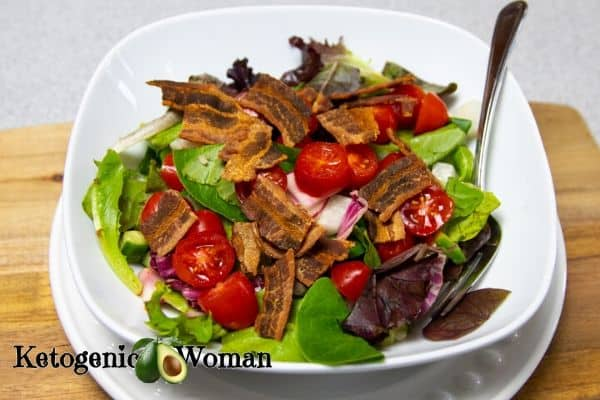 Low Carb Keto BLT Salad Recipe