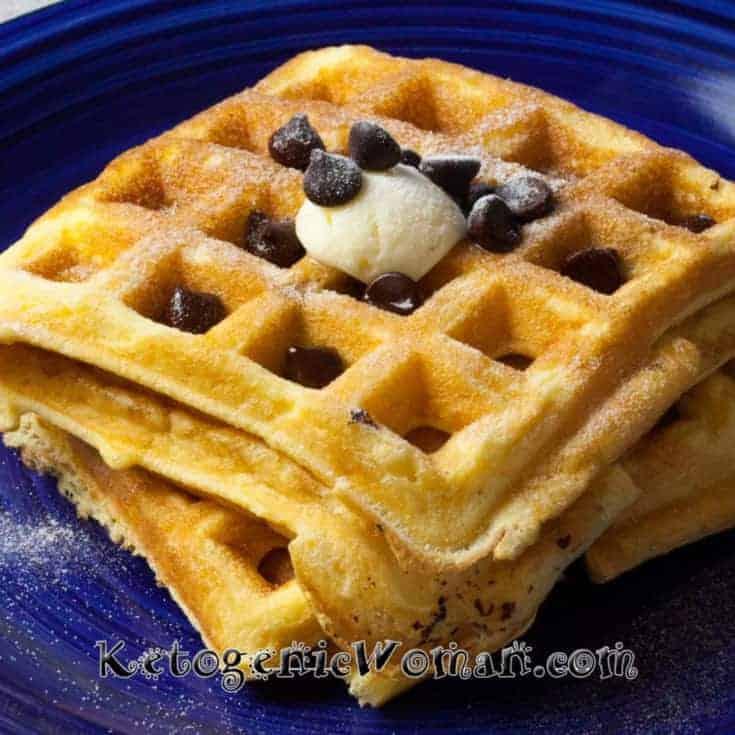 Chocolate Chip Keto Waffles