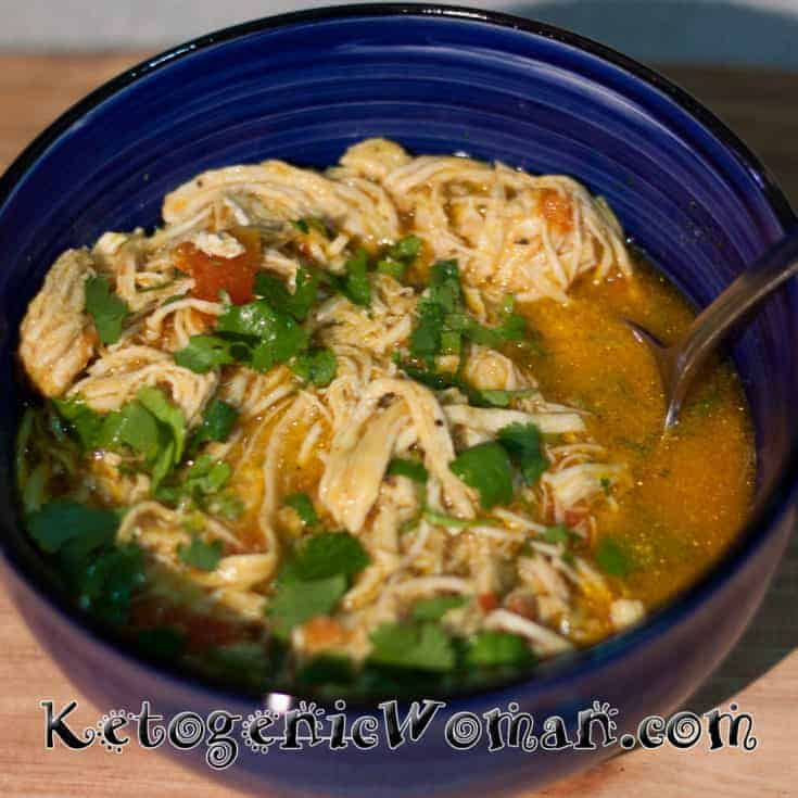 Instant Pot Coconut Curry Chicken Soup - Keto, Low Carb, Gluten Free
