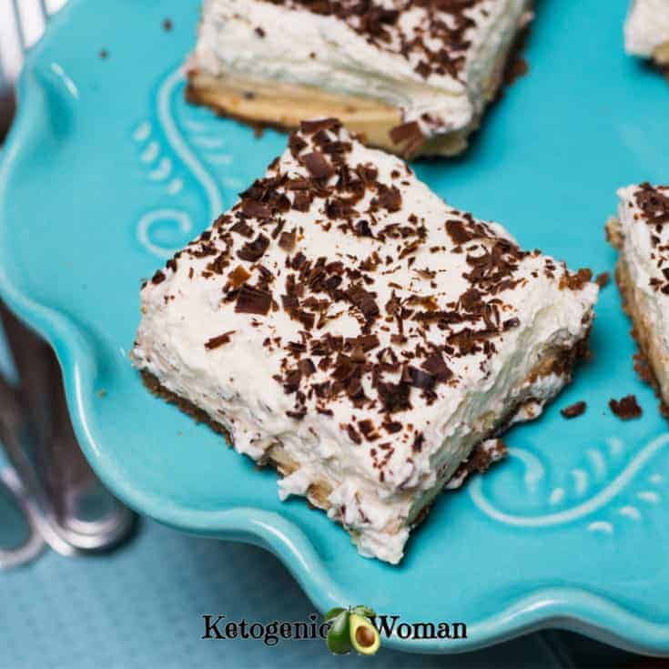 Keto Chocolate Peanut Butter Dessert Bars