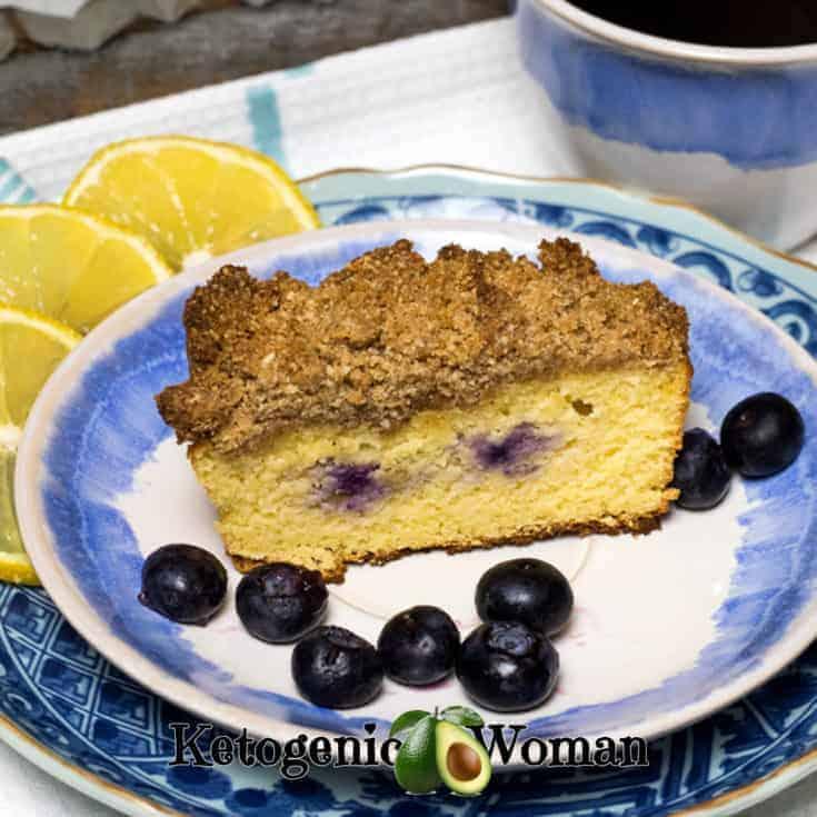 Keto Lemon Blueberry Coffee Cake