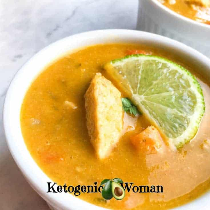Keto Thai Coconut Curry Soup (Instant Pot and Stove Top)