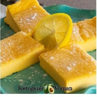 Keto Egg Fast Lemon Bars