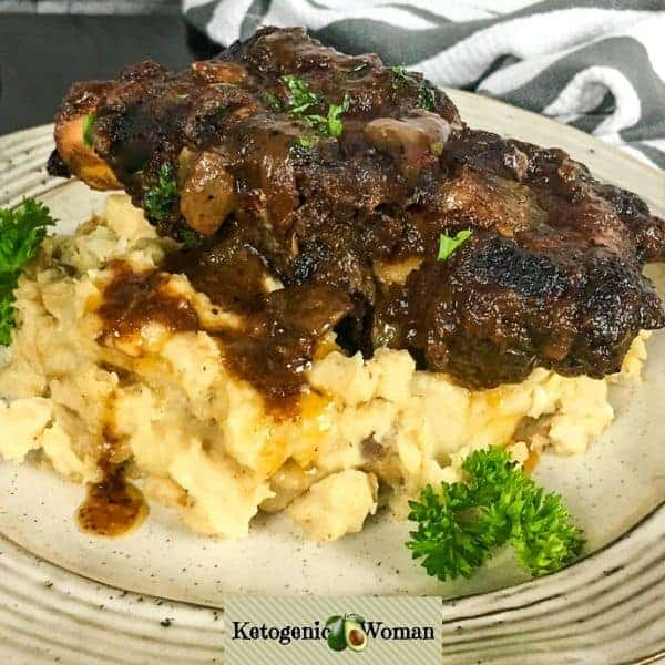 Juicy Slow Cooker Beef Ribs (Keto Low Carb Gluten Free)